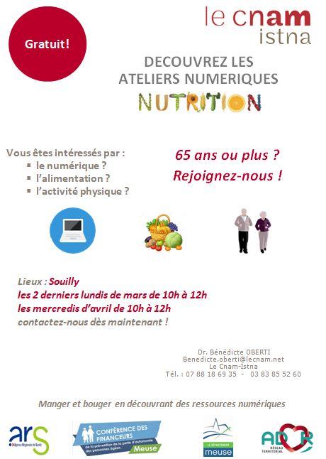 Affiche atelier numerique nutrition