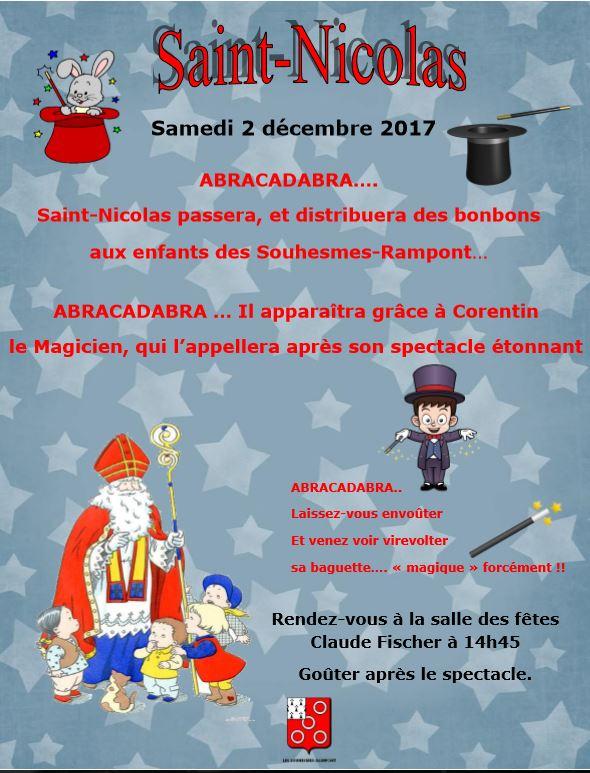 Affiche saint nicolas 2017