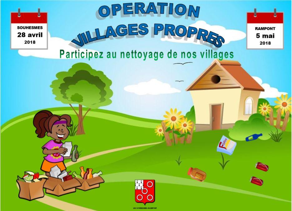 Affiche villages propres 2018